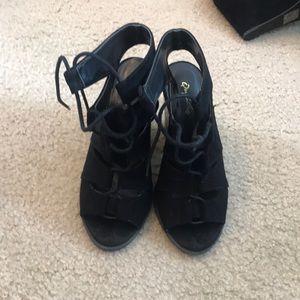 Lace up heel sandals